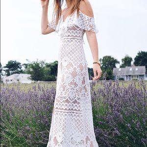 Wayf white lace dress